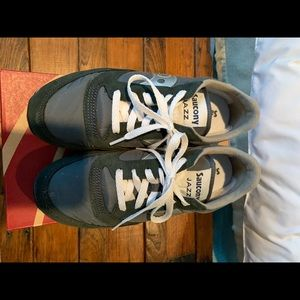 Saucony Jazz Blue Silver Sneakers 8.5